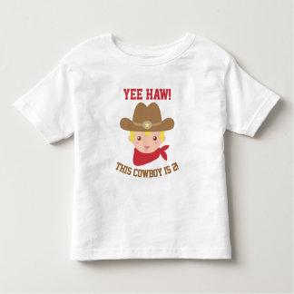 Yee Haw, Cute Little Cowboy is 2 Toddler T-Shirt