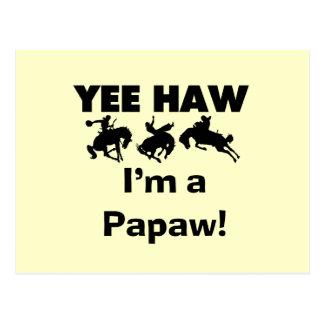 Yee Haw I m a Papaw Tshirts and Gifts Postcard