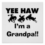 Yee Haw I'm a Grandpa T-shirts and Gifts Poster