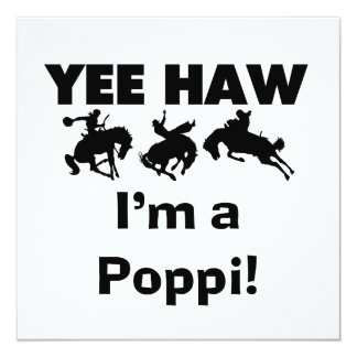 Yee Haw I'm a Poppi T-shirts and Gifts Personalized Announcement