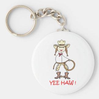 YEE HAW! BASIC ROUND BUTTON KEY RING