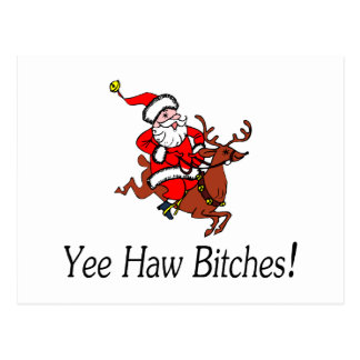 Yee Haw Santa Claus Postcard
