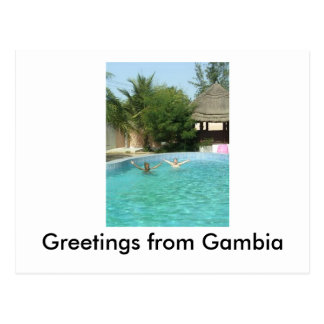 yeeaaah, Greetings from Gambia Postcard