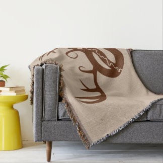 Yeg Deer Throw Blanket