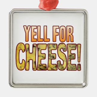 Yell For Blue Cheese Silver-Colored Square Decoration