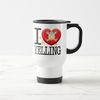 Yelling Love Man Travel Mug