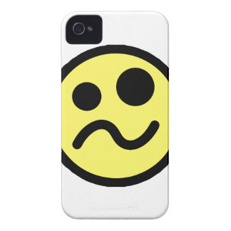 Yelllow Confused Smiley Face iPhone 4 Case-Mate Cases