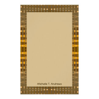 yelllow gold brown stationery