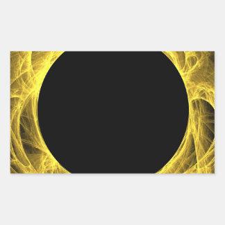 Yello & Black Fractal Background Rectangle Sticker