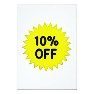 Yellow 10 Percent Off 9 Cm X 13 Cm Invitation Card