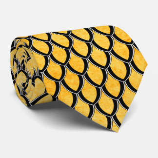 Yellow 2 Dragon Scale Tie