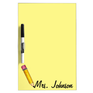 Yellow #2 Pencil Personalized English Teacher Gift Dry-Erase Boards