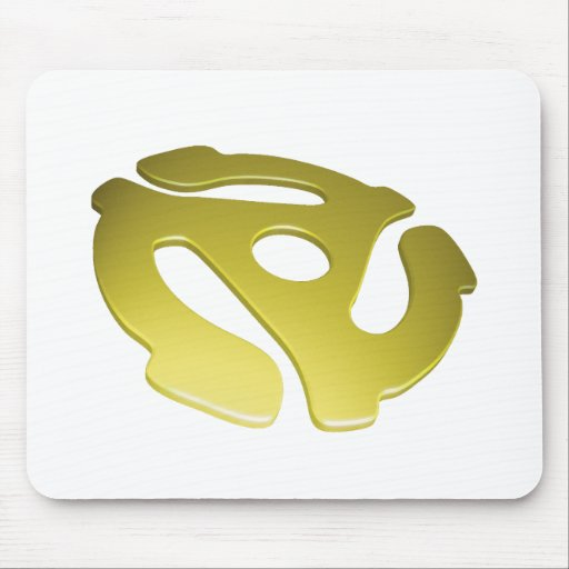 Yellow 3D 45 RPM Adapter Mouse Pads