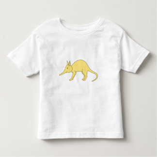 Yellow Aardvark. Cute Cartoon Animal Toddler T-Shirt