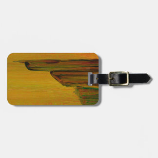 Yellow Abstract Art Luggage Tag