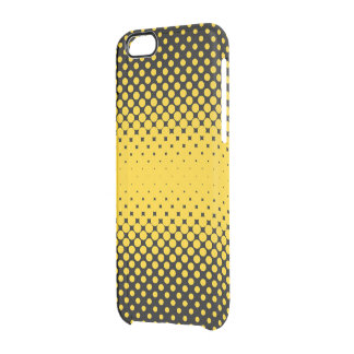 Yellow abstract background clear iPhone 6/6S case