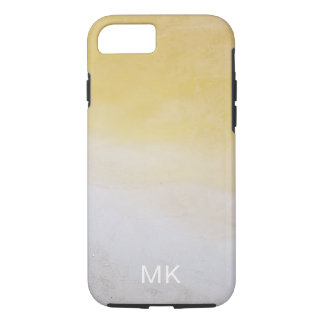 Yellow Abstract Beach Water iPhone Case