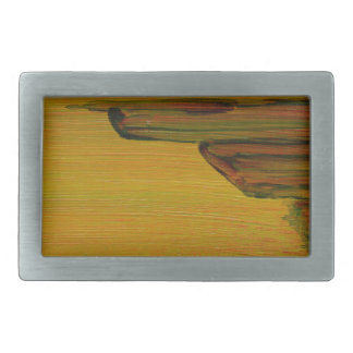 Yellow Abstract Belt Buckle