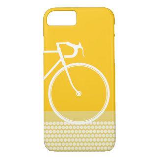 Yellow Abstract Bicycle dots iPhone 8/7 Case