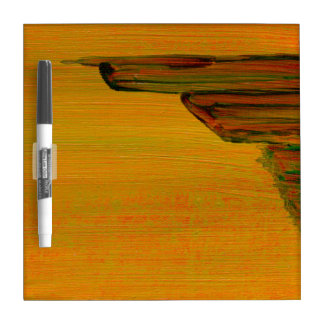 Yellow Abstract Design Dry Erase Board