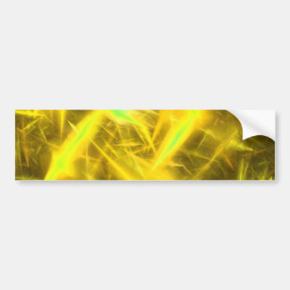 Yellow  Abstract Fractal Background Bumper Sticker