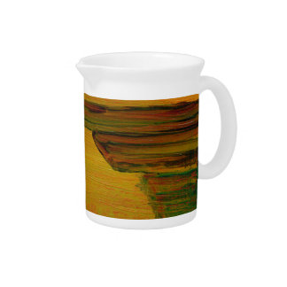 Yellow Abstract Jug or Pitcher