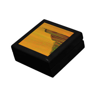 Yellow Abstract Painting Gift Box