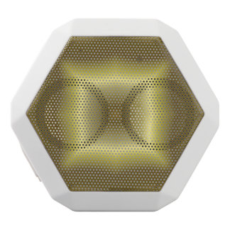 Yellow Abstract Pattern White Boombot Rex Bluetooth Speaker