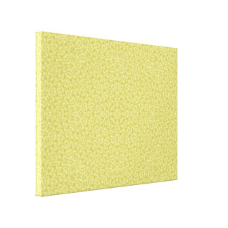 Yellow Abstract Pattern Gallery Wrap Canvas