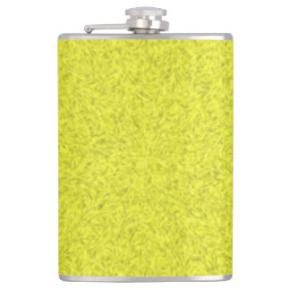 Yellow abstract pattern hip flask