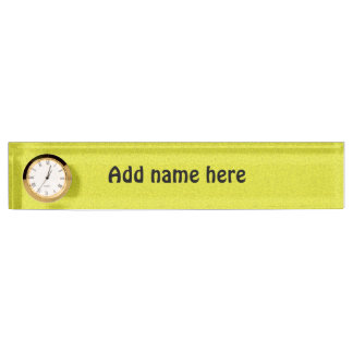 Yellow abstract pattern name plate