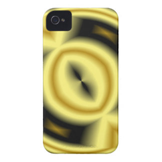 Yellow Abstract Pattern Phone 4 Case-Mate ID iPhone 4 Case-Mate Cases