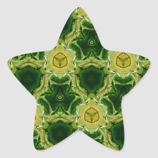 yellow abstract pattern star sticker