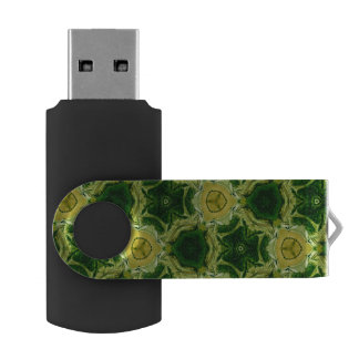 yellow abstract pattern USB flash drive