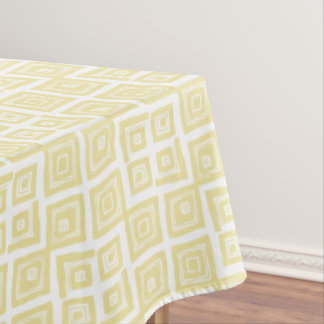 Yellow Abstract Squares Pattern Tablecloth