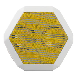 Yellow abstract wood white boombot rex bluetooth speaker