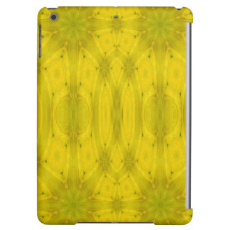 Yellow Abstract Wood Cover For iPad Air