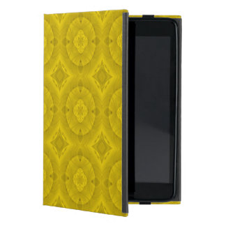 Yellow abstract wood pattern cover for iPad mini