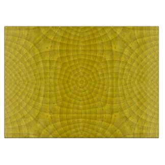 Yellow abstract wood pattern cutting board