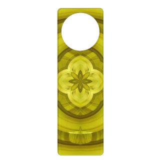 Yellow Abstract Wood Pattern Door Hanger