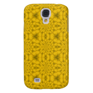 Yellow abstract wood pattern galaxy s4 case