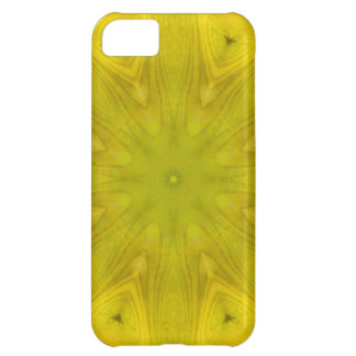 Yellow abstract wood pattern iPhone 5C case