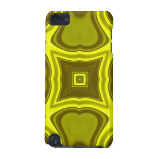 Yellow abstract wood pattern iPod touch (5th generation) case