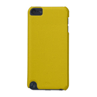 Yellow abstract wood pattern iPod touch (5th generation) cover