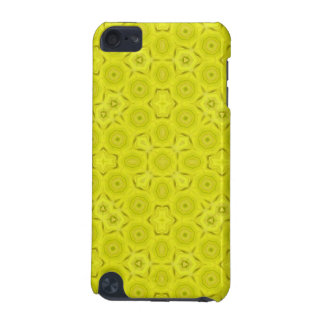 Yellow Abstract Wood Pattern iPod Touch (5th Generation) Covers