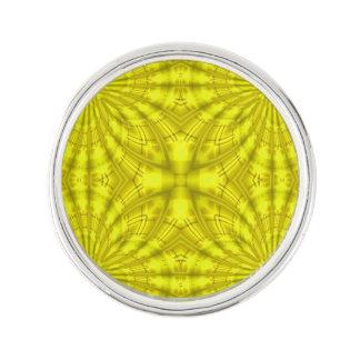 Yellow abstract wood Pattern Lapel Pin