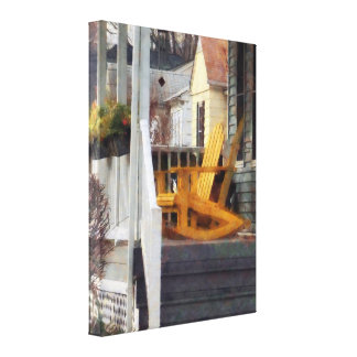 Yellow Adirondack Rocking Ch Canvas Prints