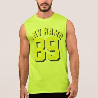 Yellow Adults | Sports Jersey Design Sleeveless T-shirt