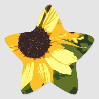 YELLOW AFRICAN BLOOMS STAR STICKER