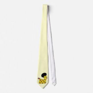 Yellow Afro Snake Tie
